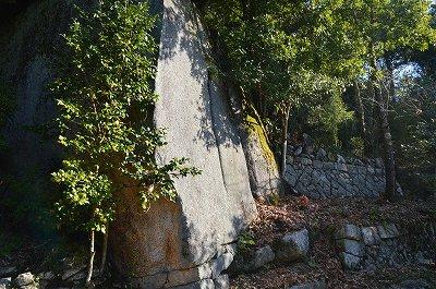 自然石と石垣の融合