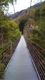 大室山登山口つり橋