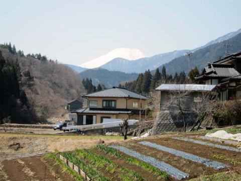 道志みちの富士山