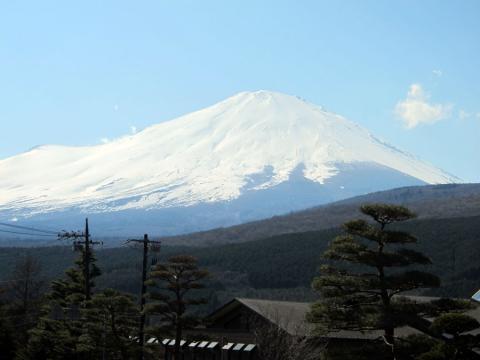 籠坂GOLF CLUB の富士山