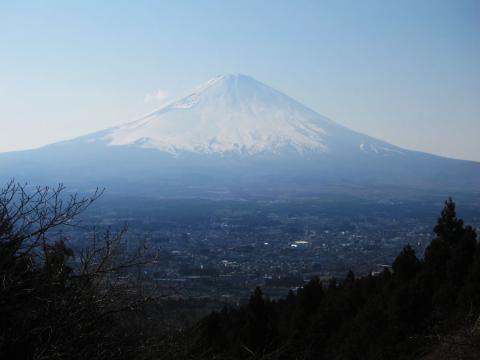 乙女峠の富士山
