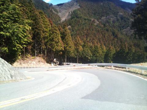 山伏峠への上り