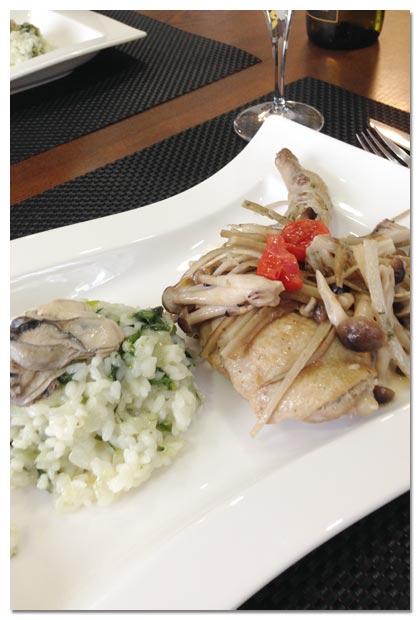 ピエモンテ料理,牡蠣のリゾット