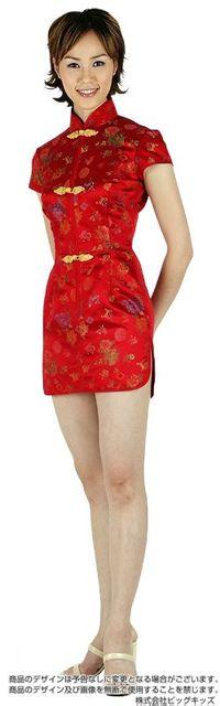 チャイナドレス(ミニ)赤