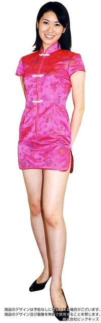 チャイナドレス(ミニ)ピンク