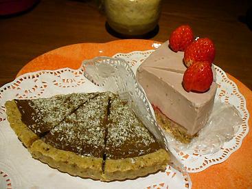 チョコタルト&いちごのケーキ
