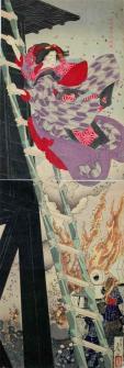 日本画 お七