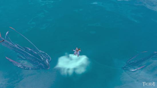 氷に閉ざされた海の中に・・・