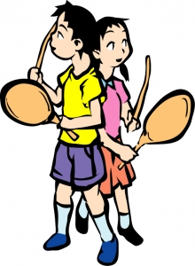 131 子供と団扇太鼓