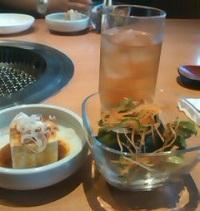 サラダと豆腐