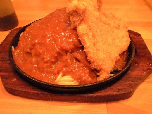 ピレネ ミートスパゲティーとチキンカツのコンビ大盛り1