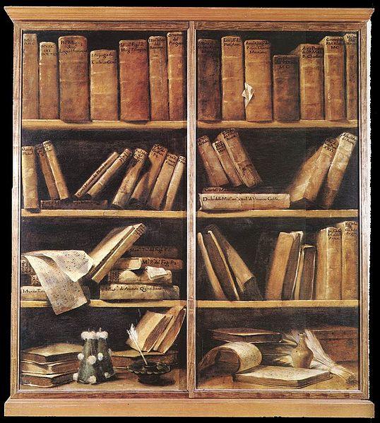 Giuseppe Maria Crespi (1665-1747), Scaffale di libri (1725)