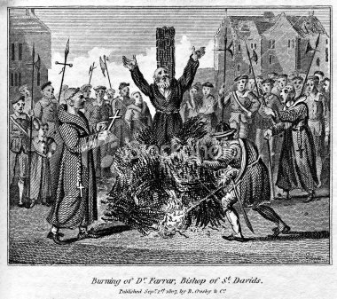 Robert Ferrar burned at the stake