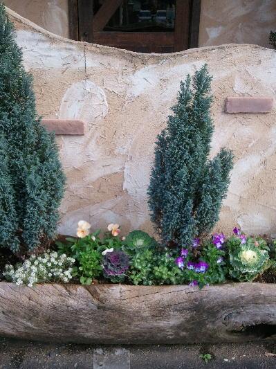 レガルの入り口の花壇