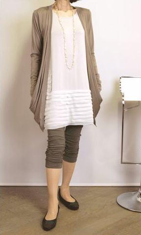 ミキミアリーのレギンス・裾シャーリングのロールアップタイプ