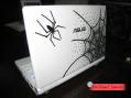 ノートパソコンデコ クモの巣2