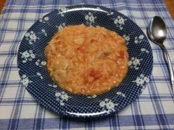豚肉のトマトチーズ・リゾット