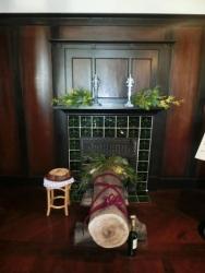 外交官の家の暖炉