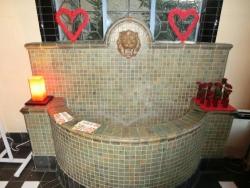 ベーリック・ホール:パーム・ルームの壁泉