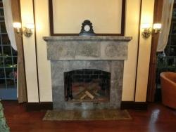 ベーリック・ホール:居間の暖炉
