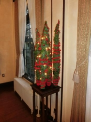 ベーリック・ホール:居間のクリスマスの装飾