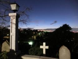 外国人墓地前からの夕景