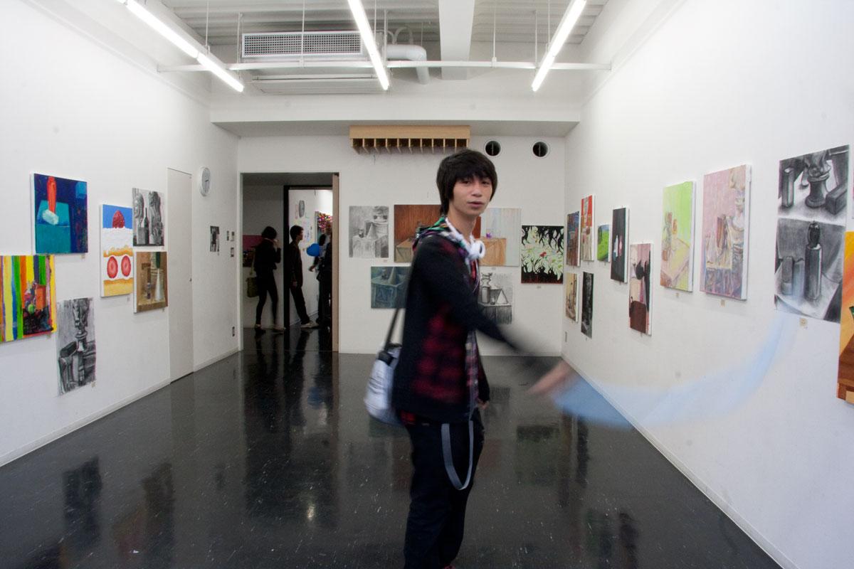 文化学院 秋の集い2010 高等課程 美術(撮影:大野希士朗くん)
