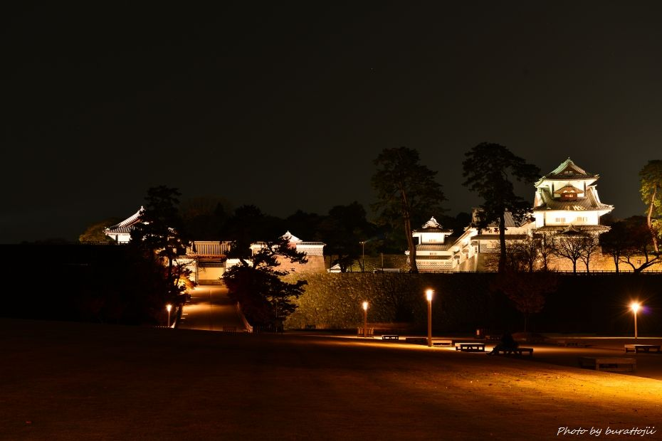 2014.11.22金沢城公園のライトアップ6