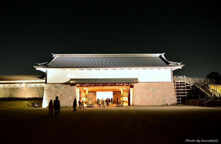 2014.11.22金沢城公園のライトアップ5