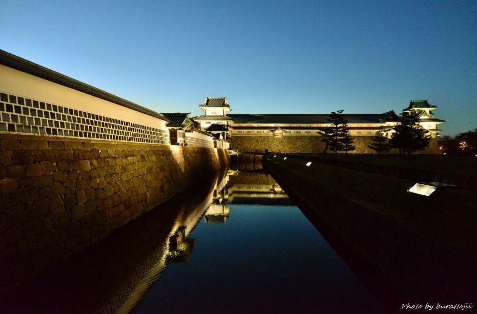 2014.11.22金沢城公園のライトアップ1