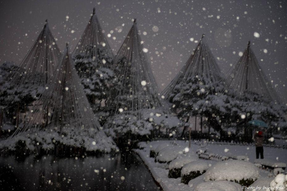 2014.12.06雪降る兼六園6