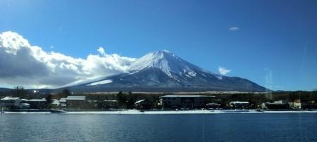 遊覧船からの富士山