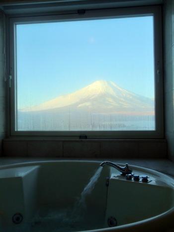 朝風呂富士山