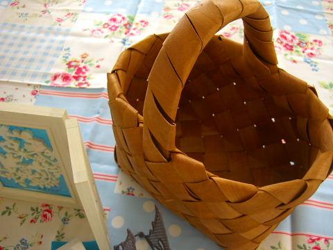 水杉クロス編みバスケット
