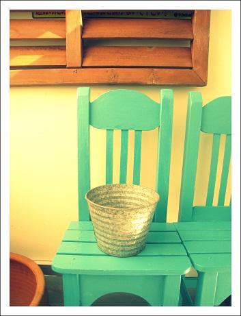 ベランダガーデン DIY 椅子 手作りインテリア ベランダインテリア