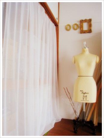 チュールレース カーテン 簡単手作りカーテン インテリア 手作りインテリア IKEAクリップ