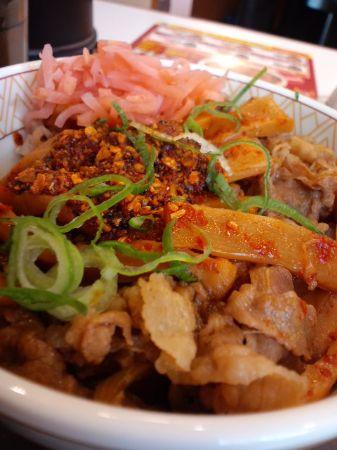 梅田ラー油メンマ丼20110108_450