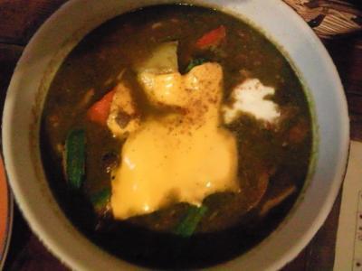 ラムキーマ青汁カレー�!カレースープ@カレー魂 デストロイヤーさん