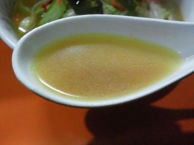 野菜ラーメン・味噌 スープ@権ちゃんチャンポンラーメン食堂さん