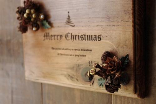 アンティーク風クリスマスアレンジボード