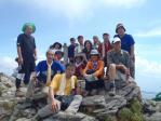 11山頂で集合写真