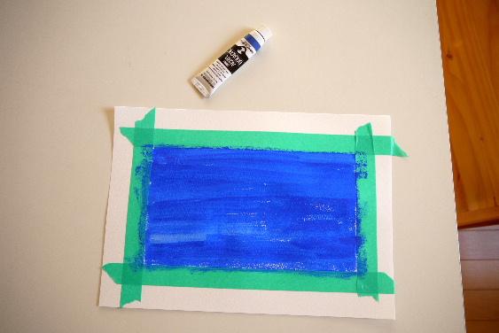 青の製作1