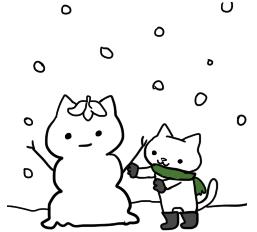 雪だるまねこさん