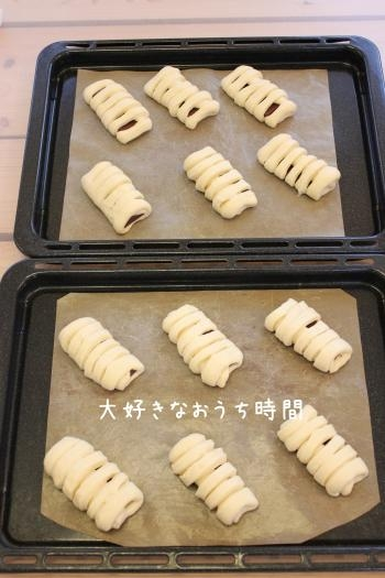 チョコパン成形 縮小