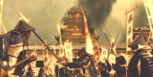 大坂城に押し寄せる徳川勢