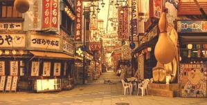 人が誰もいない大阪の街