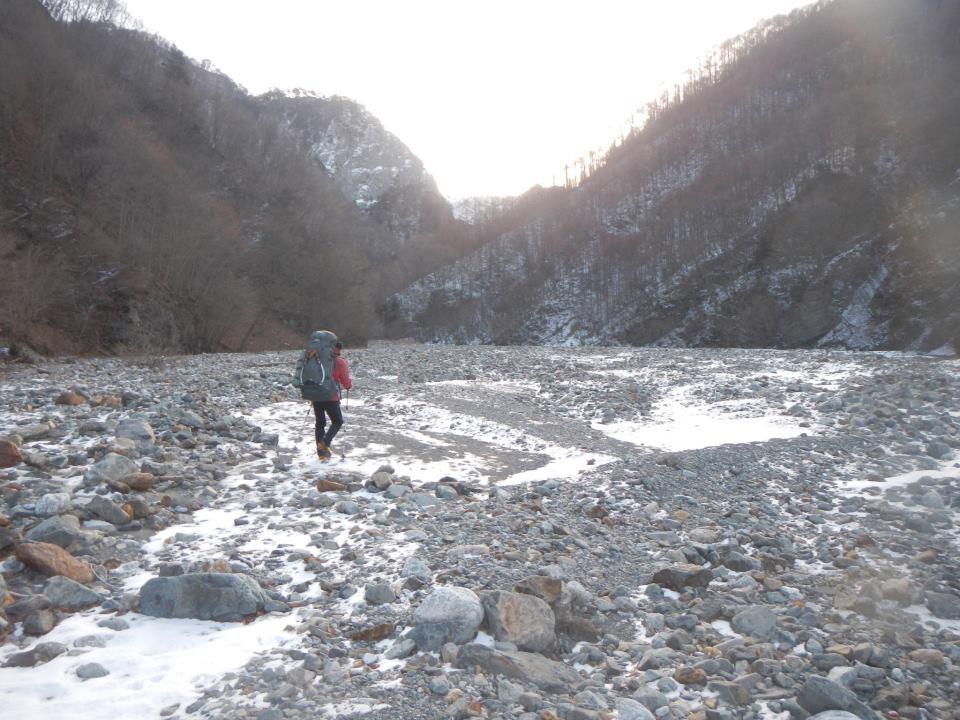 河原歩き。