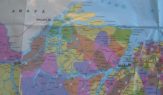 デルタの島々とベレン市周辺地図