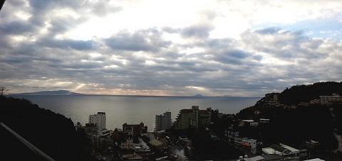 ホテルからの景色20131208