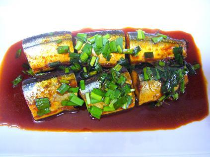 秋刀魚のコチュ煮